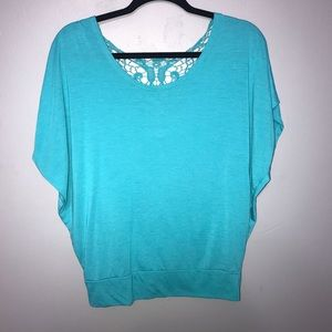 Teal Batwing Blouse